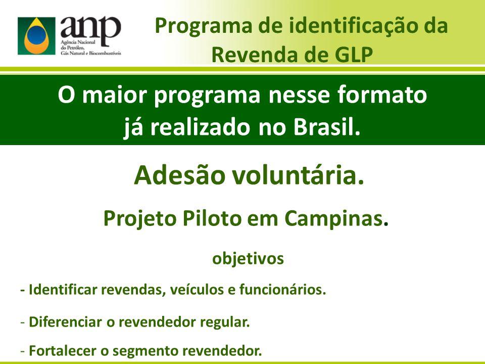 Programa de identificação da Revenda de GLP