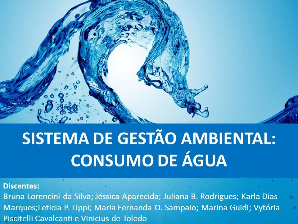 SISTEMA DE GESTÃO AMBIENTAL: CONSUMO DE ÁGUA