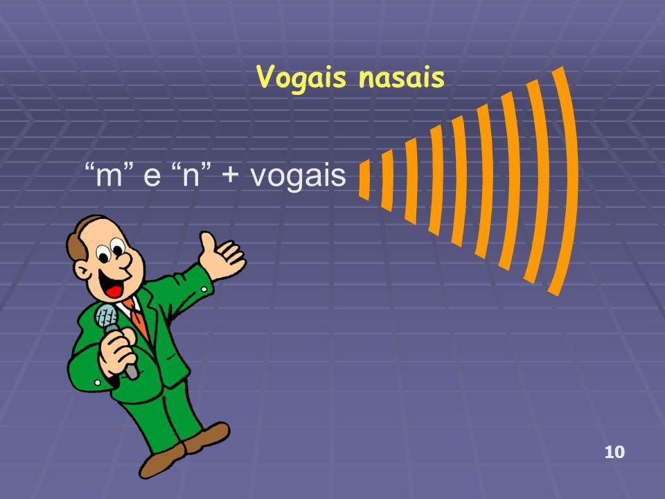 Vogais nasais m e n + vogais 10