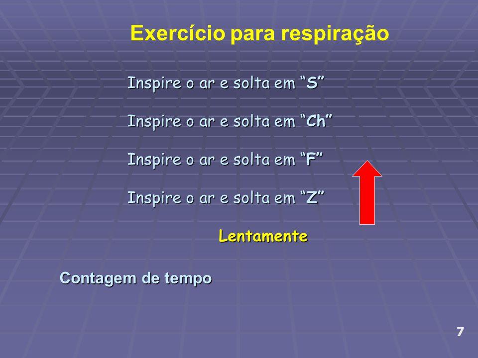 Exercício para respiração