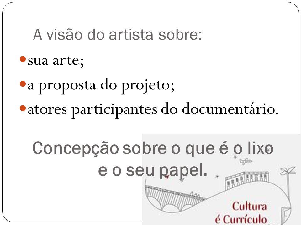 A visão do artista sobre: