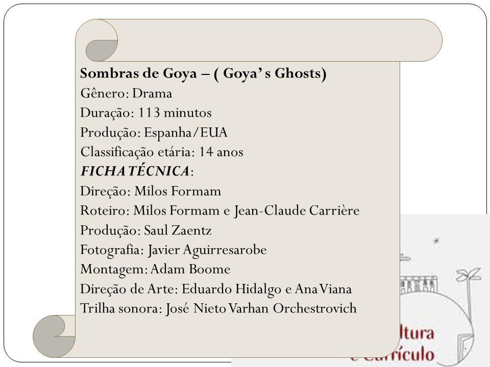 Sombras de Goya – ( Goya' s Ghosts)