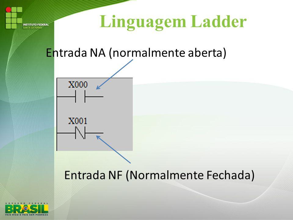 Linguagem Ladder Entrada NA (normalmente aberta)