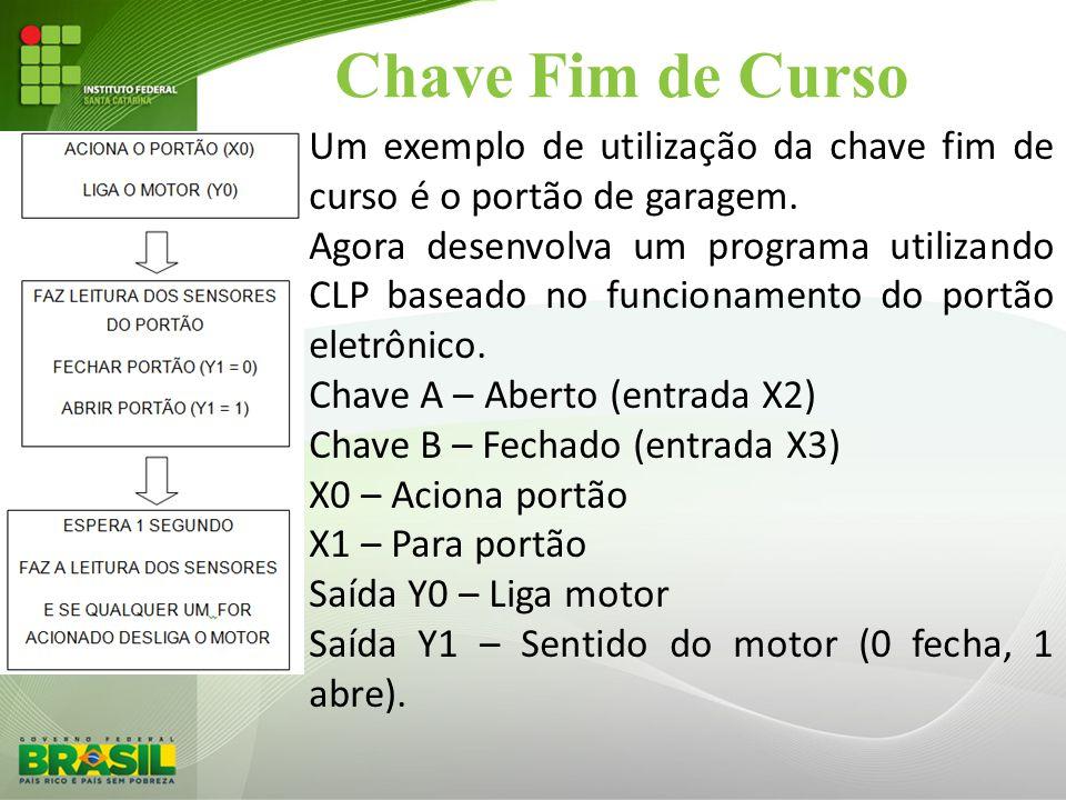 Chave Fim de Curso Um exemplo de utilização da chave fim de curso é o portão de garagem.