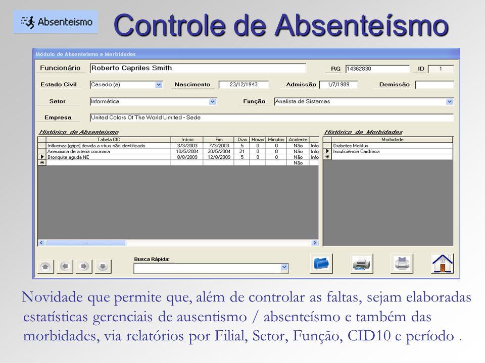 Controle de Absenteísmo