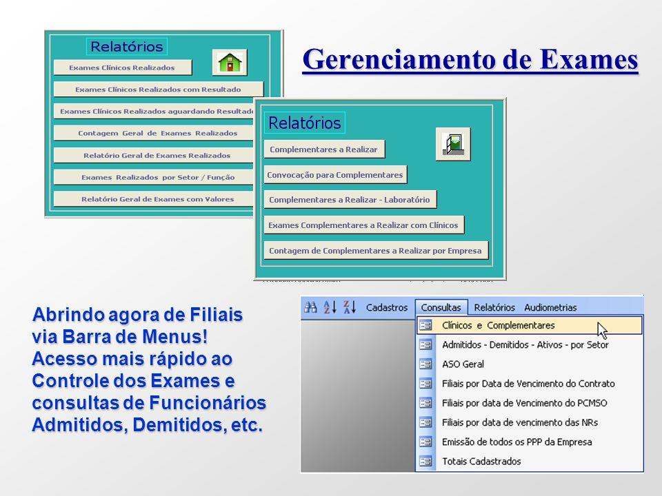 Gerenciamento de Exames