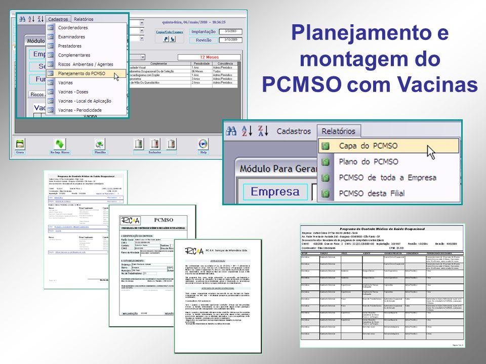 Planejamento e montagem do PCMSO com Vacinas