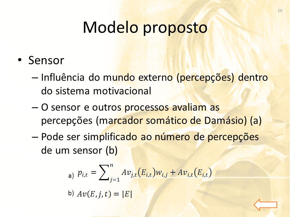 Modelo proposto Sensor