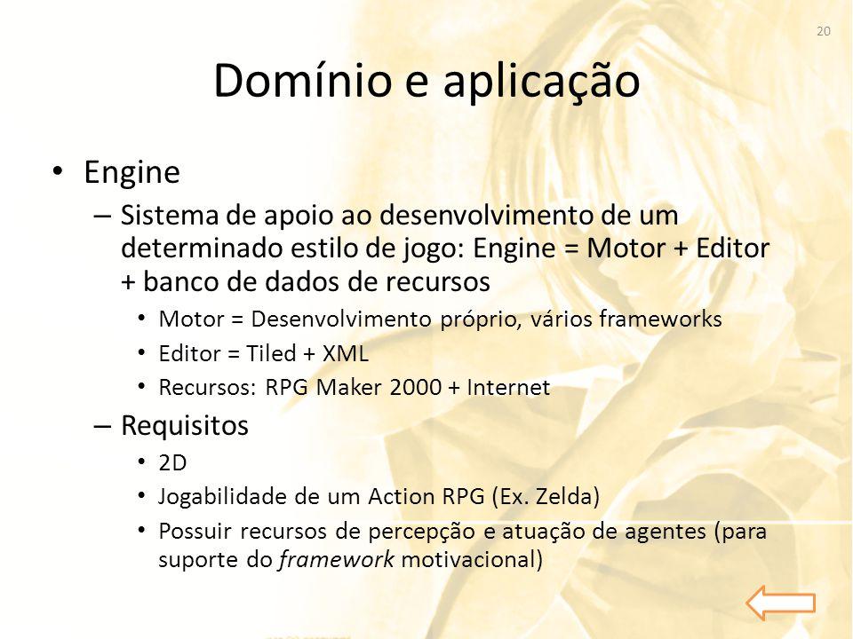 Domínio e aplicação Engine