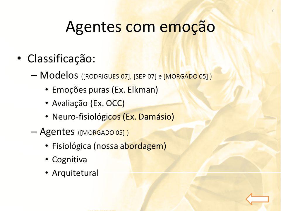 Agentes com emoção Classificação: