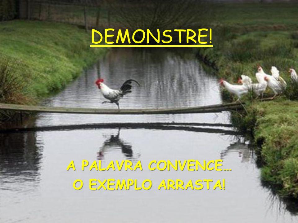 A PALAVRA CONVENCE… O EXEMPLO ARRASTA!