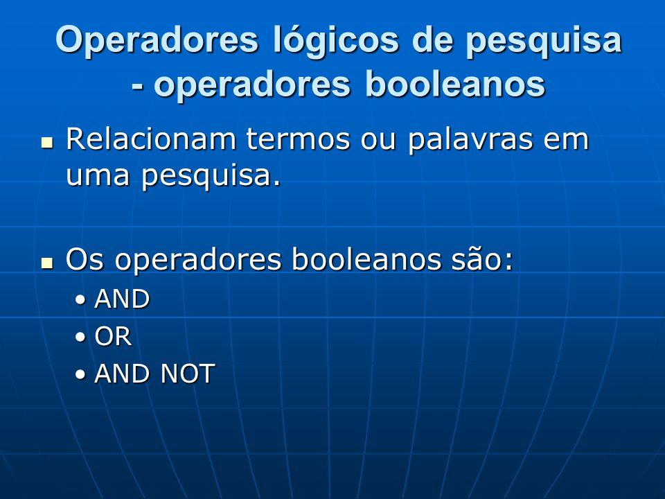 Operadores lógicos de pesquisa - operadores booleanos