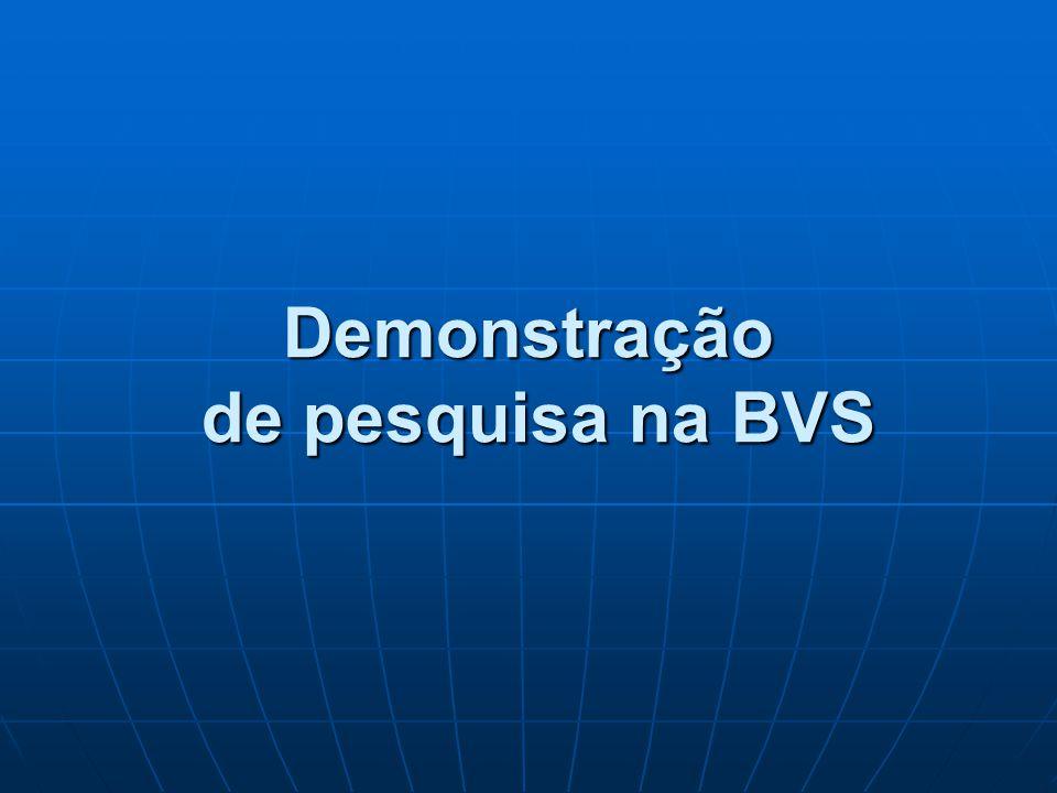Demonstração de pesquisa na BVS