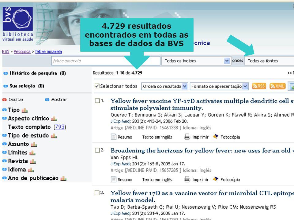 4.729 resultados encontrados em todas as bases de dados da BVS