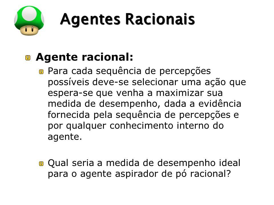 Agentes Racionais Agente racional: