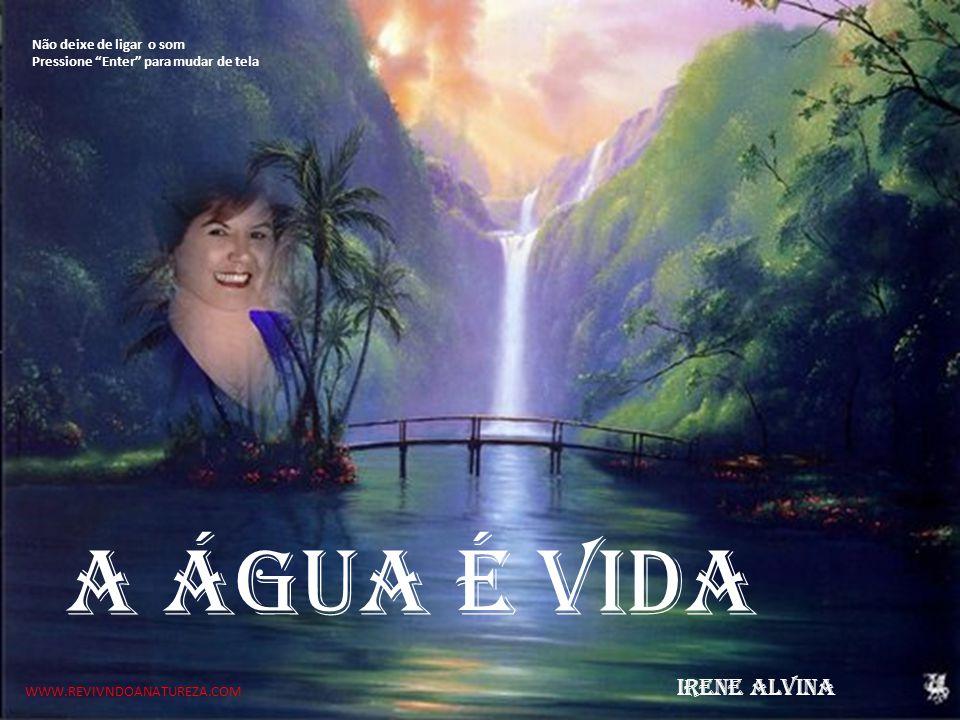 A água é vida IRENE ALVINA Não deixe de ligar o som