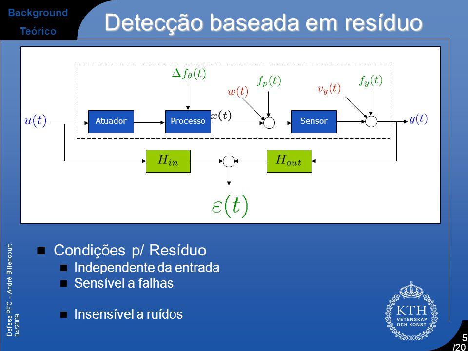 Detecção baseada em resíduo