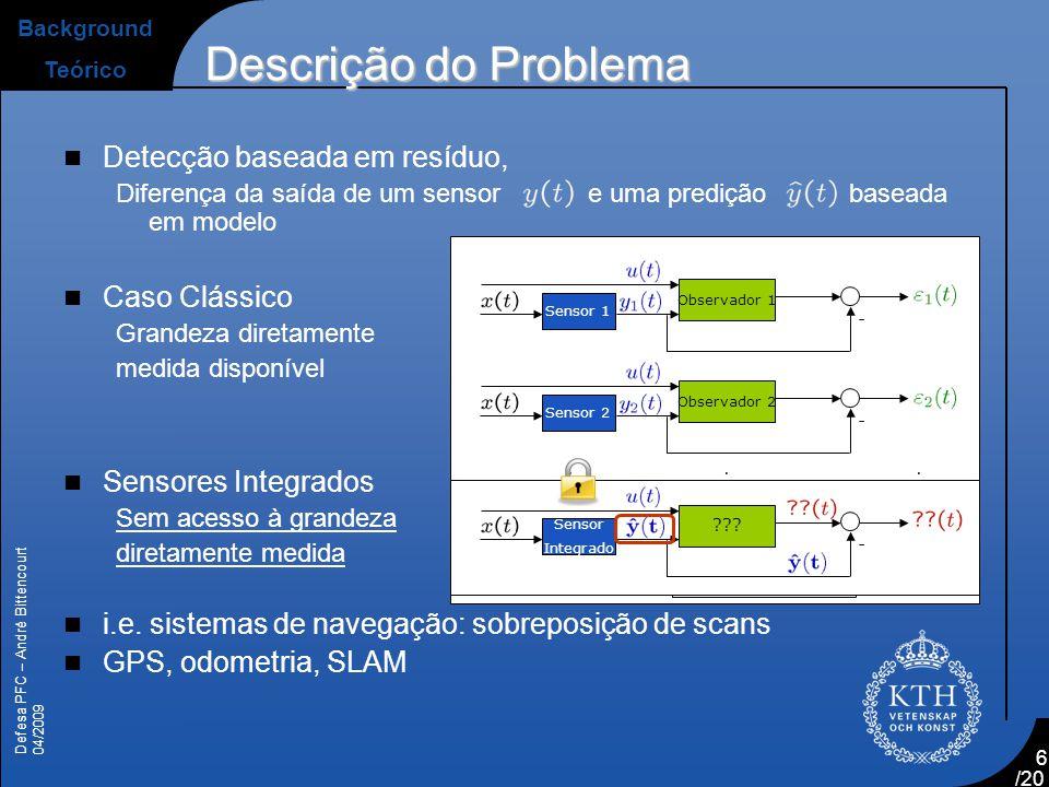 Descrição do Problema Detecção baseada em resíduo, Caso Clássico
