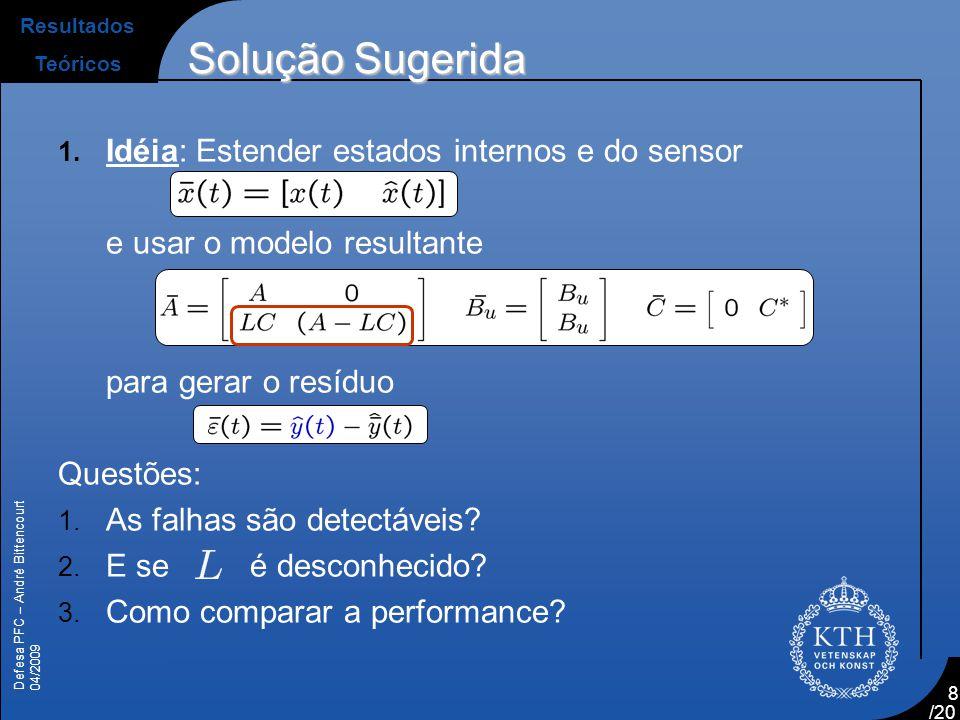 Solução Sugerida Idéia: Estender estados internos e do sensor
