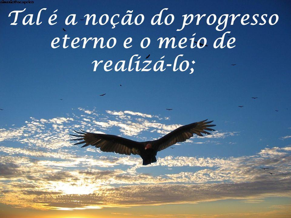 Tal é a noção do progresso eterno e o meio de