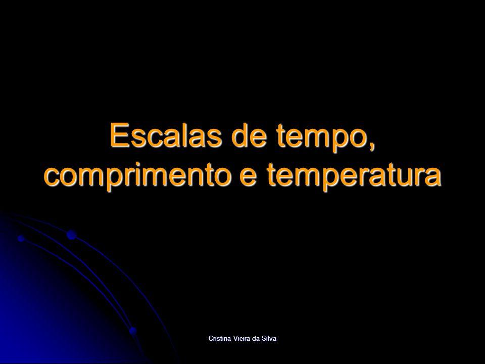 Escalas de tempo, comprimento e temperatura