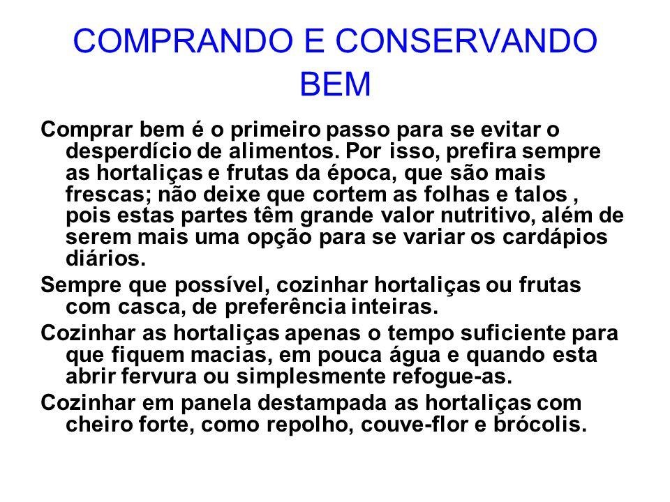 COMPRANDO E CONSERVANDO BEM