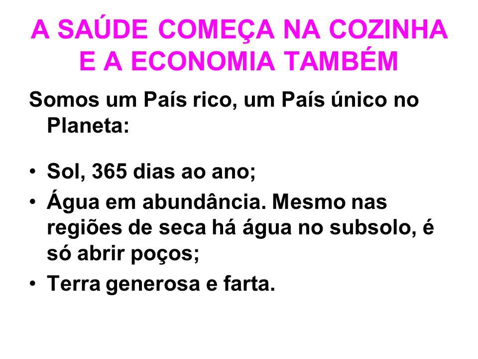A SAÚDE COMEÇA NA COZINHA E A ECONOMIA TAMBÉM