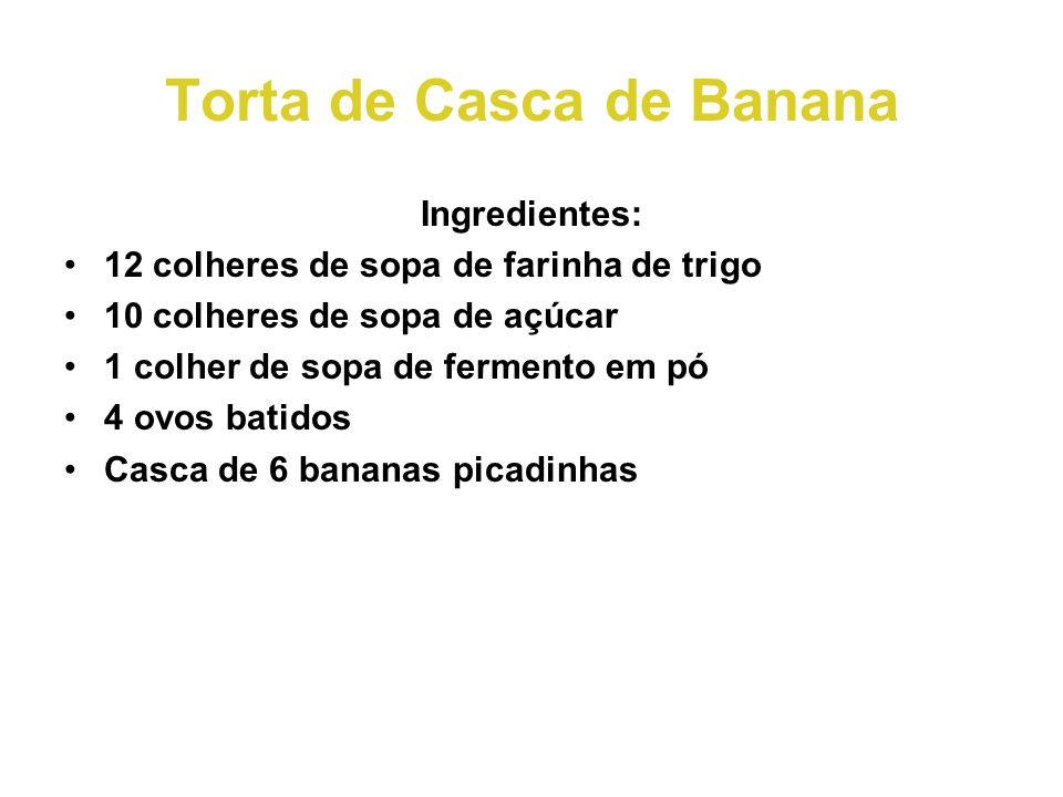 Torta de Casca de Banana