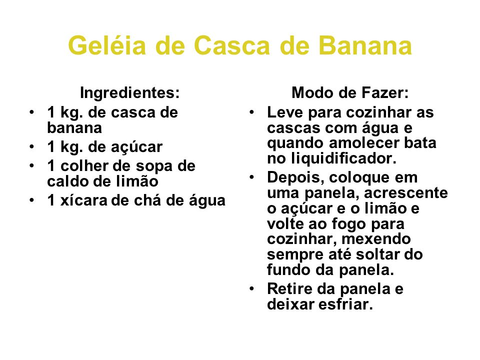 Geléia de Casca de Banana