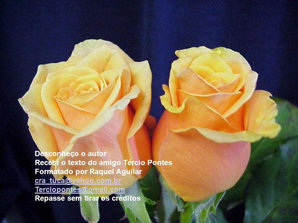 Desconheço o autor Recebi o texto do amigo Tércio Pontes. Formatado por Raquel Aguilar. cra_tuca@yahoo.com.br.