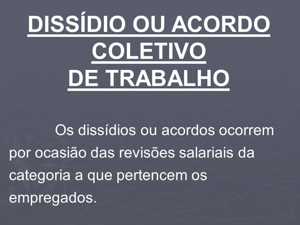 DISSÍDIO OU ACORDO COLETIVO