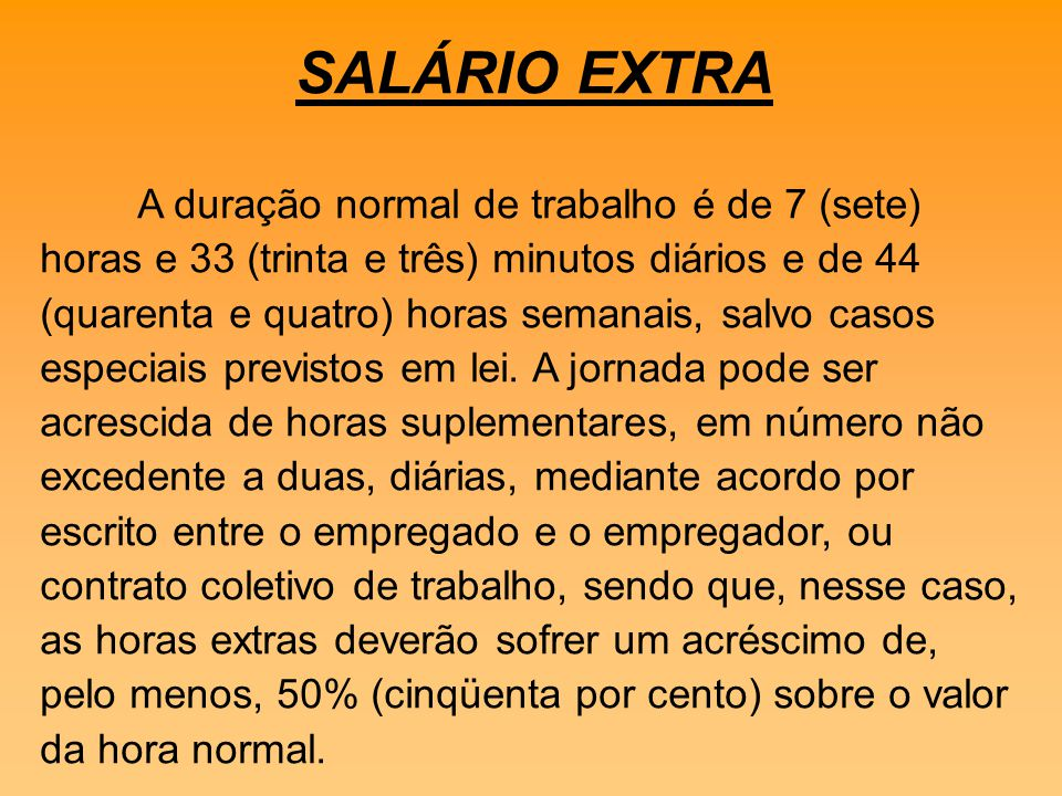 SALÁRIO EXTRA