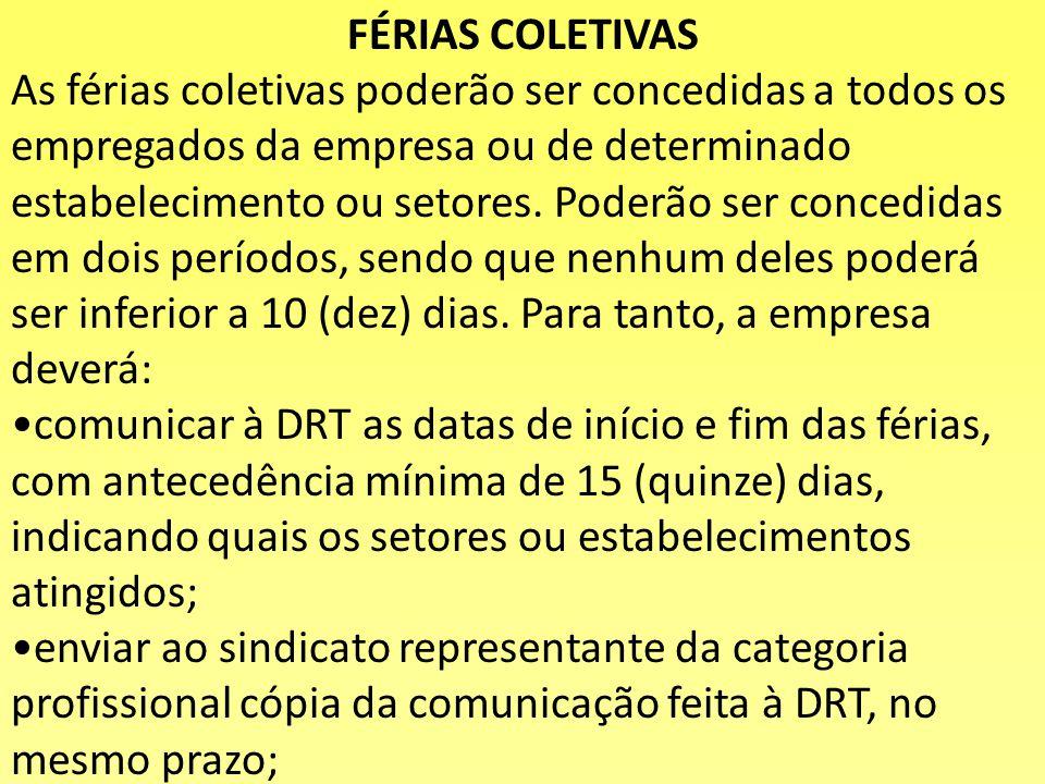 FÉRIAS COLETIVAS