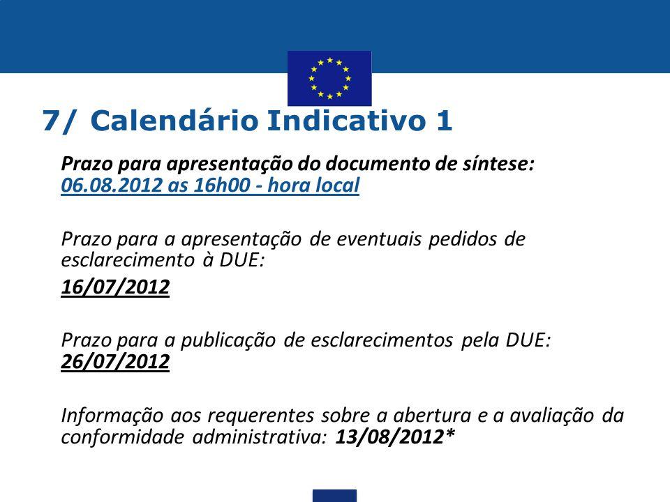 7/ Calendário Indicativo 1