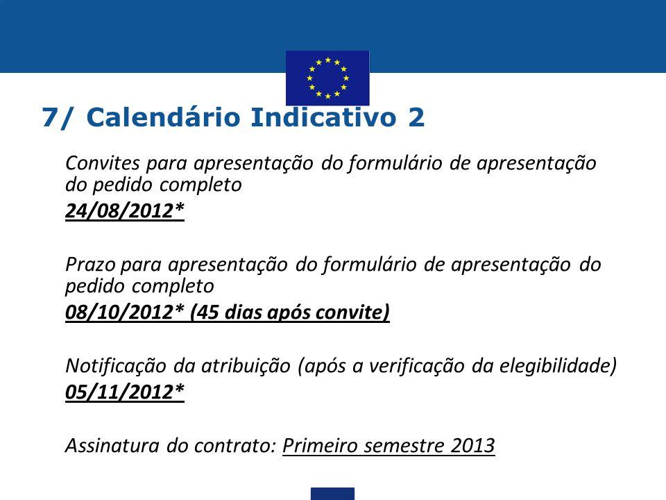 7/ Calendário Indicativo 2