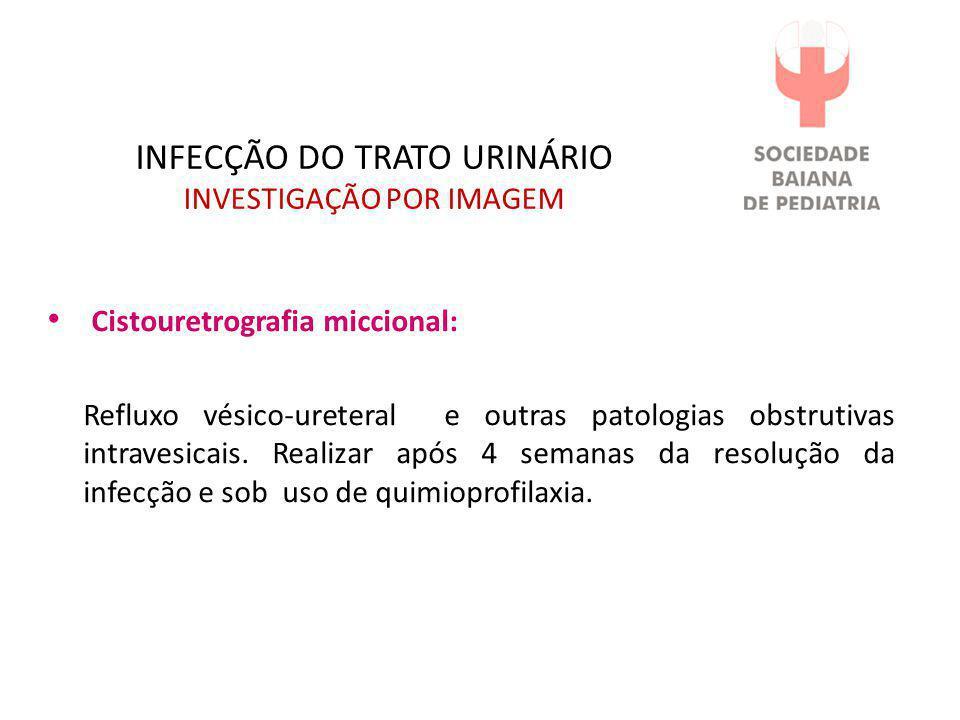INFECÇÃO DO TRATO URINÁRIO INVESTIGAÇÃO POR IMAGEM