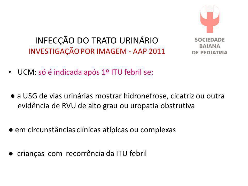 INFECÇÃO DO TRATO URINÁRIO INVESTIGAÇÃO POR IMAGEM - AAP 2011