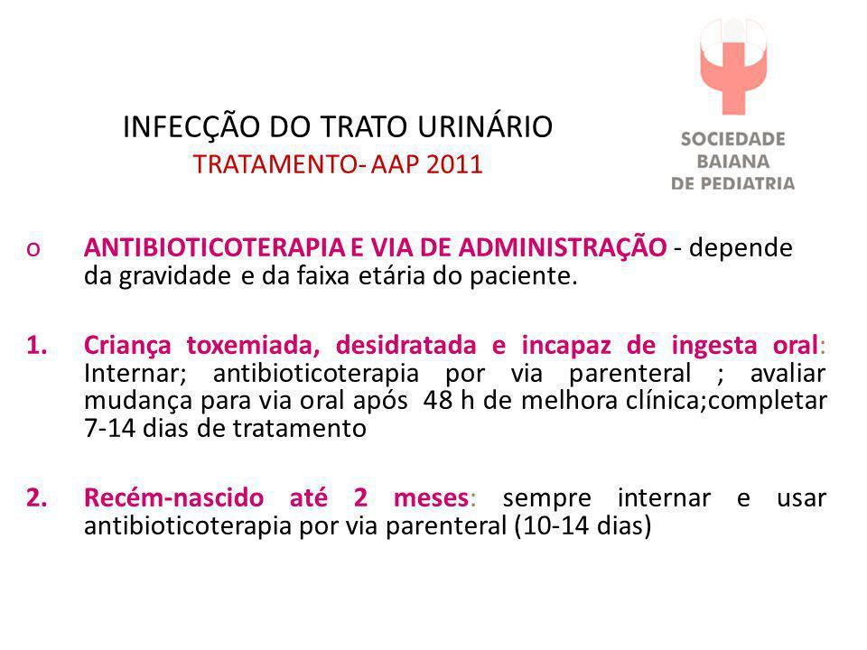 INFECÇÃO DO TRATO URINÁRIO TRATAMENTO- AAP 2011