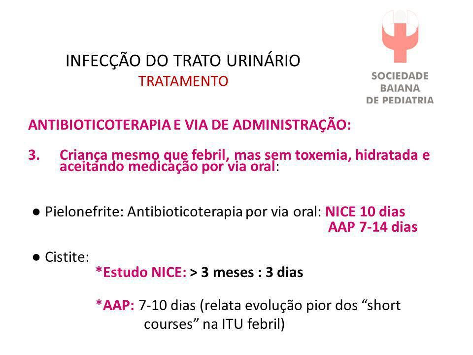 INFECÇÃO DO TRATO URINÁRIO TRATAMENTO