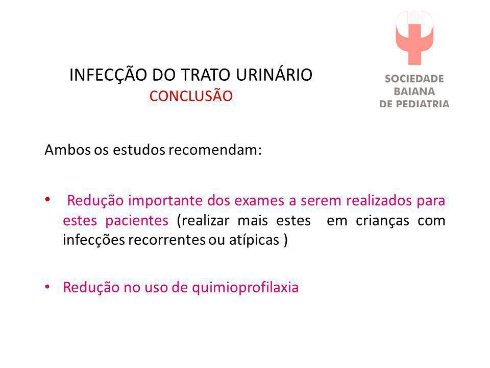 INFECÇÃO DO TRATO URINÁRIO CONCLUSÃO