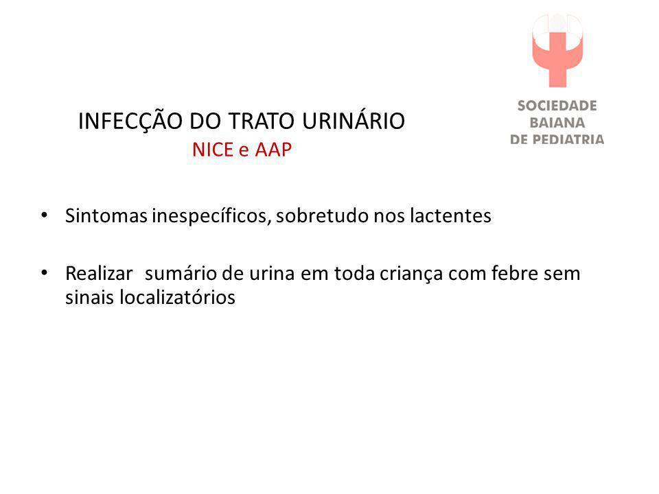INFECÇÃO DO TRATO URINÁRIO NICE e AAP