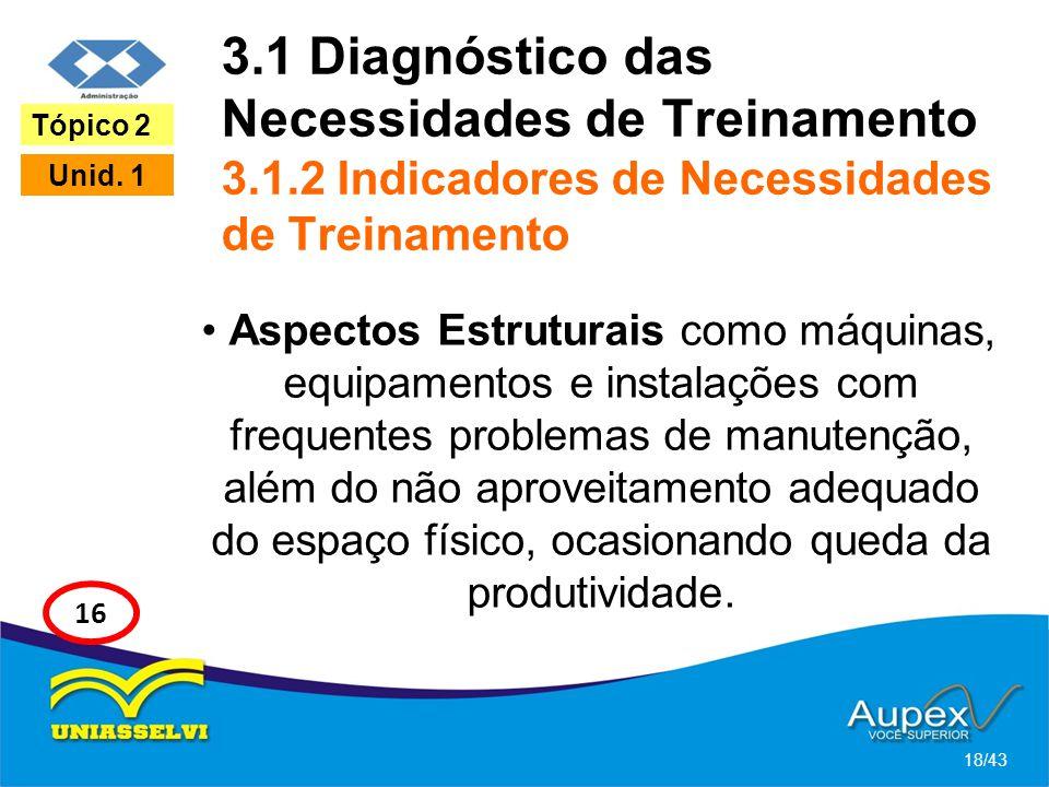 3. 1 Diagnóstico das Necessidades de Treinamento 3. 1