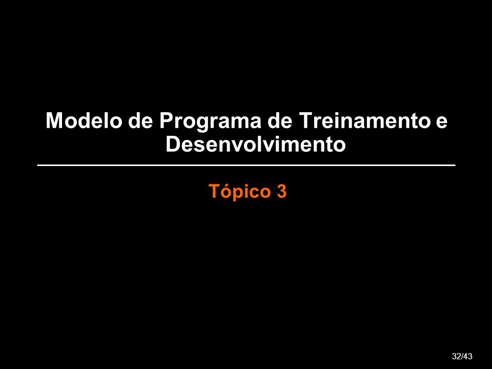 Modelo de Programa de Treinamento e Desenvolvimento