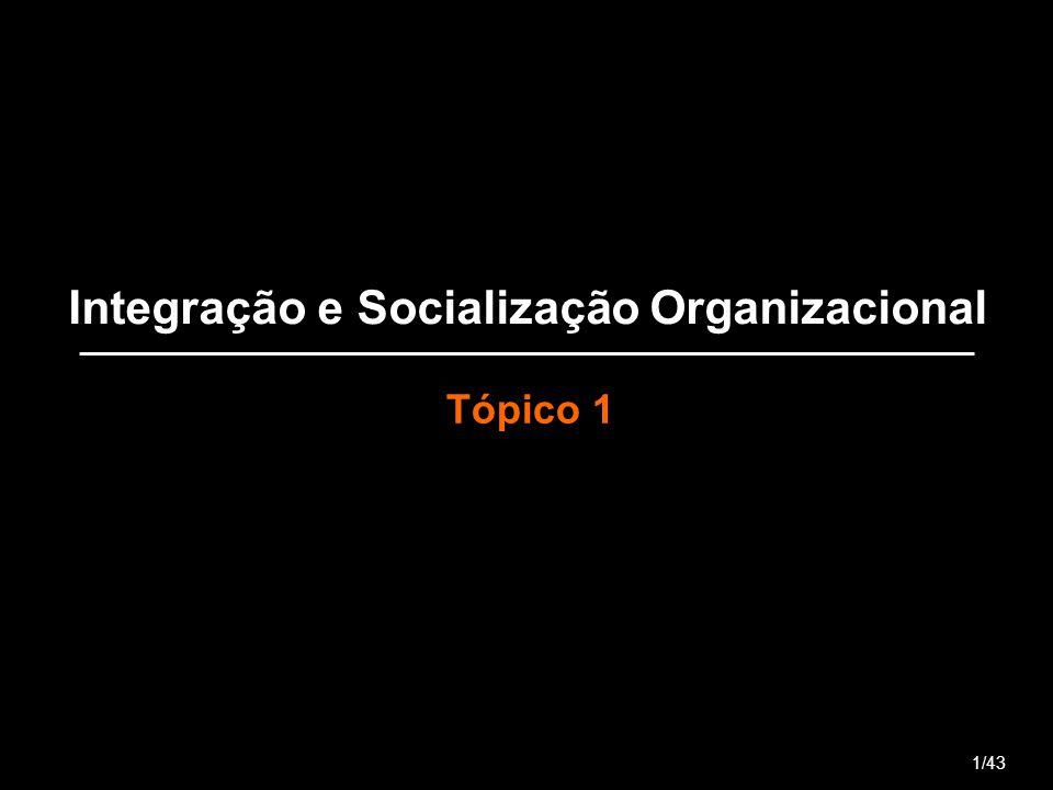 Integração e Socialização Organizacional