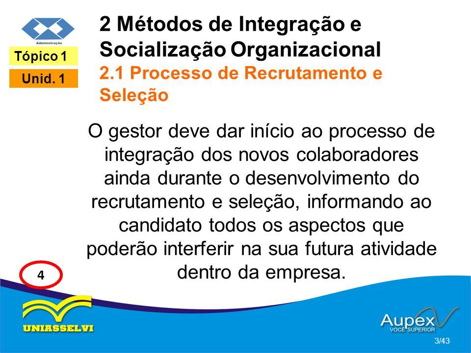 2 Métodos de Integração e Socialização Organizacional 2