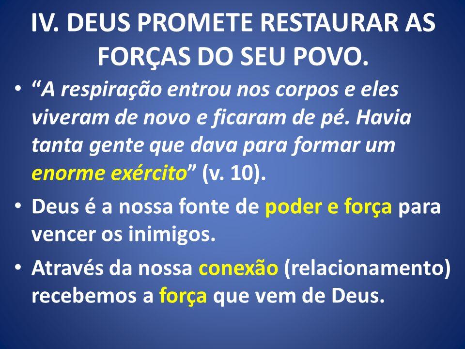 IV. DEUS PROMETE RESTAURAR AS FORÇAS DO SEU POVO.