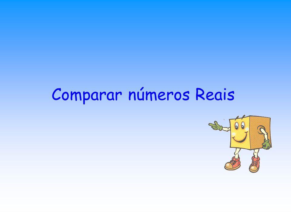 Comparar números Reais