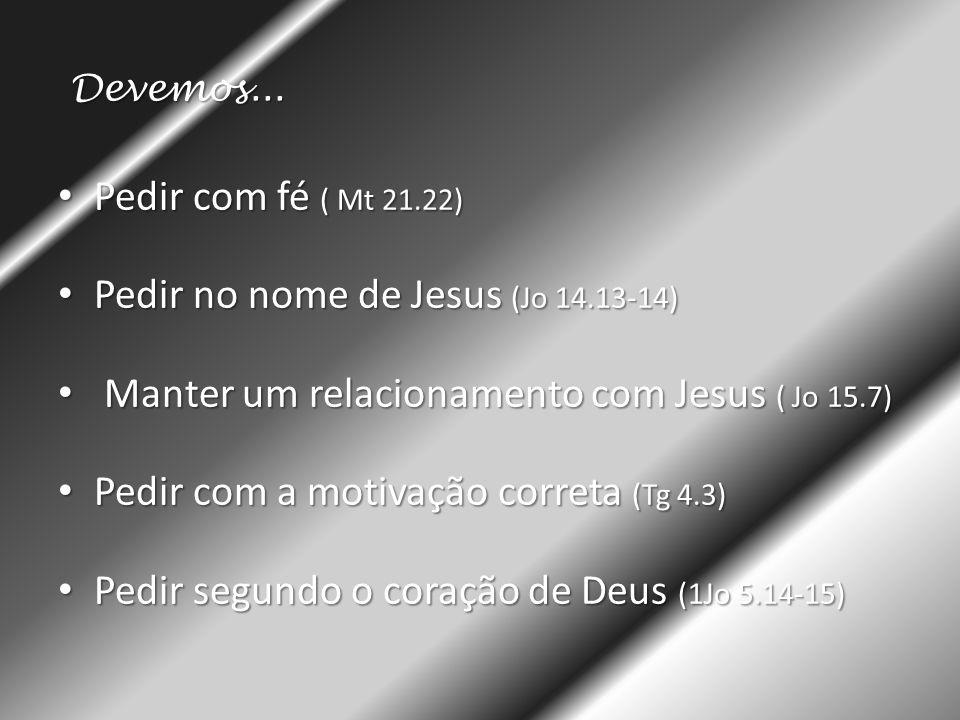 Pedir no nome de Jesus (Jo 14.13-14)
