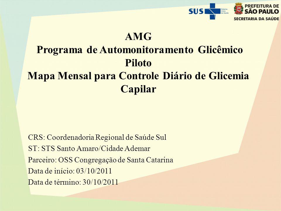 Programa de Automonitoramento Glicêmico Piloto