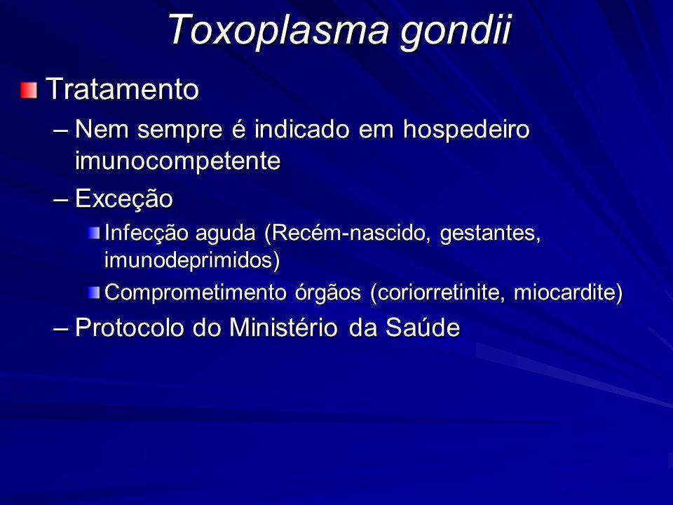 Toxoplasma gondii Tratamento